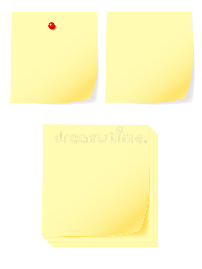 Download Post-it Vector Stock Photo - Image: 3193300