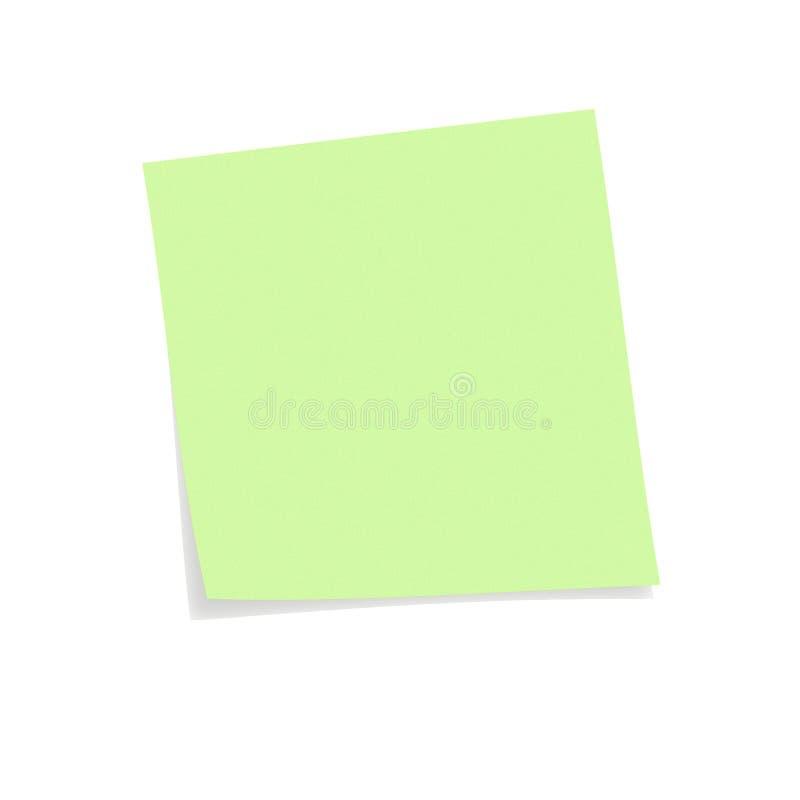 Post-it verde imagenes de archivo