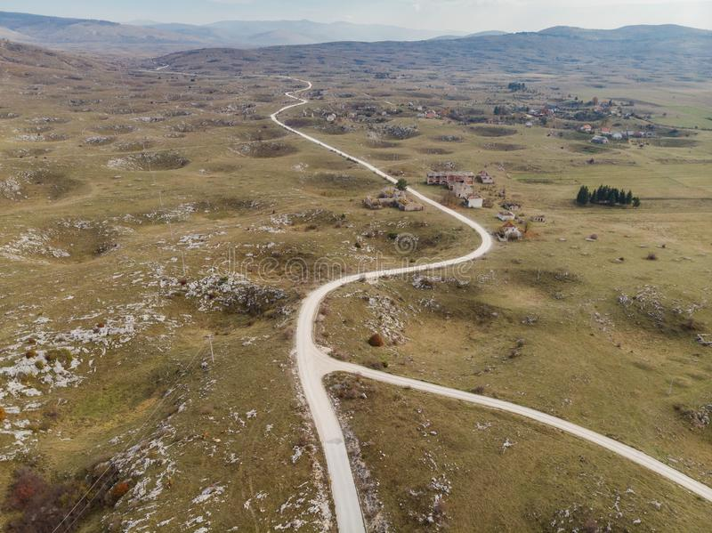 Post War landscape in Bosnia, Yugoslavia conflict zone stock images