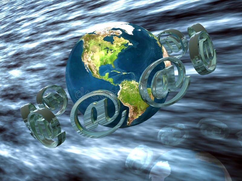 Post wereldwijd. stock illustratie