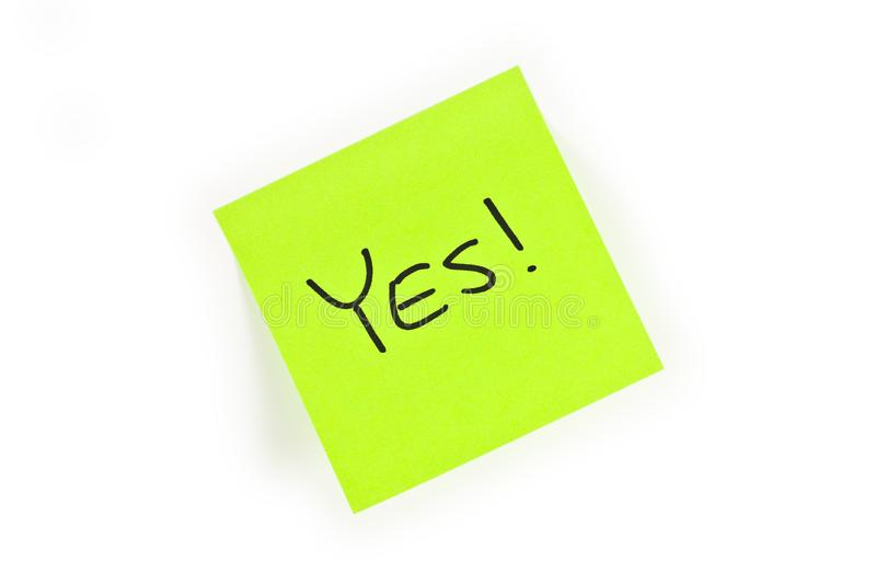 Download Post-it With YES! Written On It Stock Photo - Image: 8131340