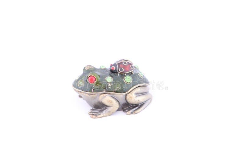 Postać żaba robić metal z sekretem royalty ilustracja