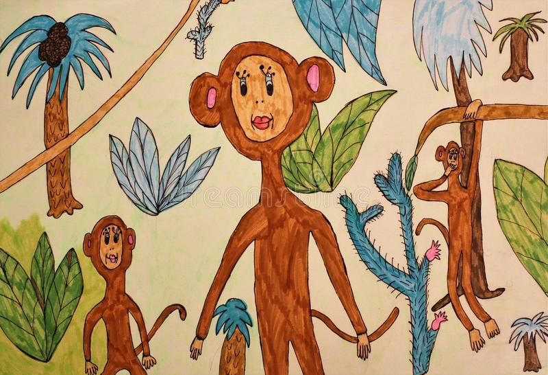 Postać dziecko - małpa zdjęcie royalty free
