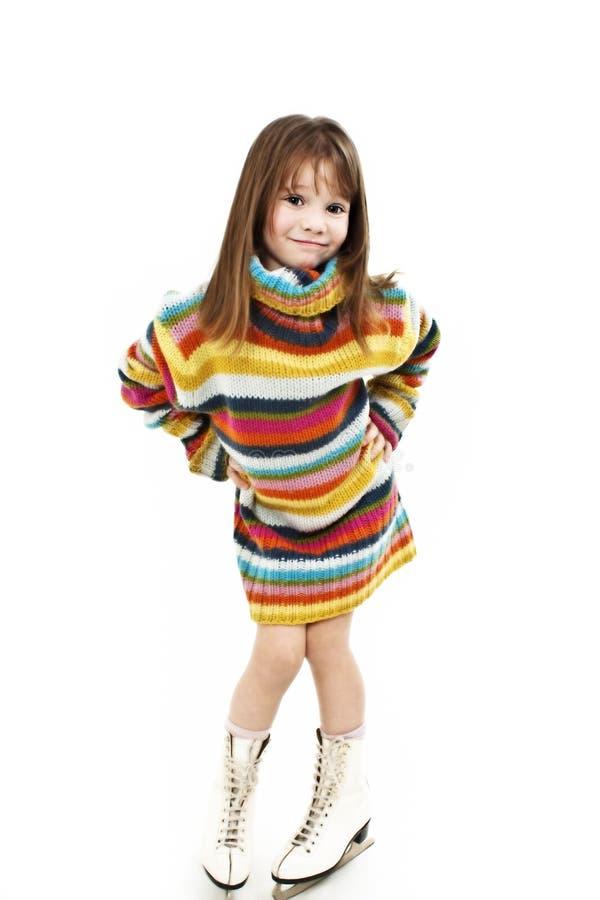postać dziewczyn potomstwa szczęśliwi łyżwiarscy zdjęcia royalty free
