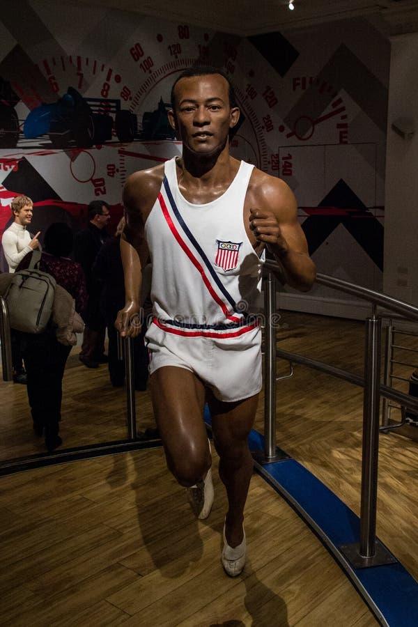 Postać Jesse Owensa z Madame Tussaud zdjęcia royalty free