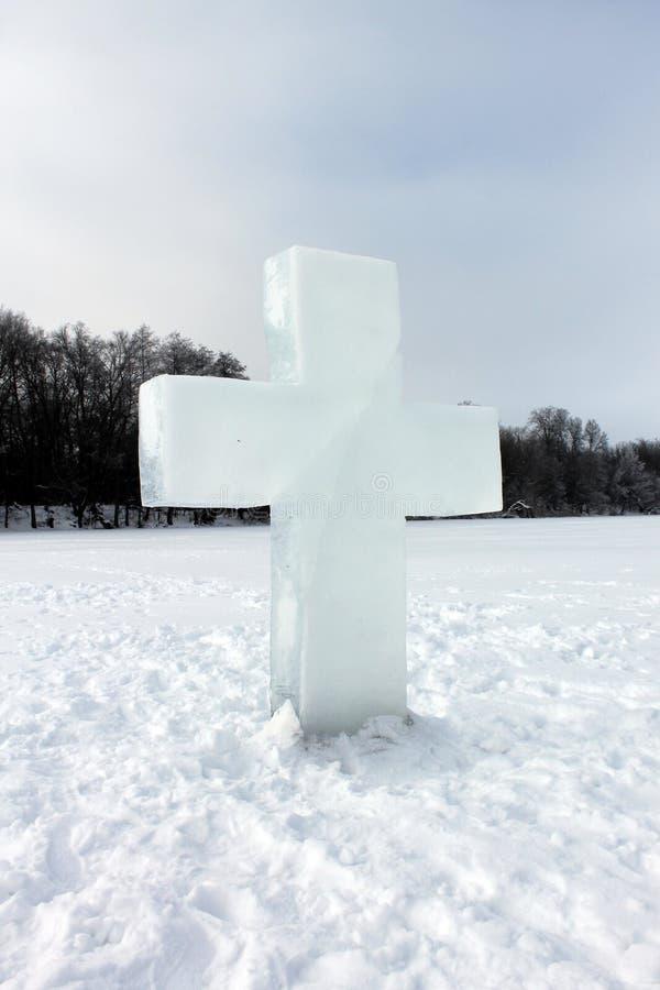 Postać lód, krzyż zdjęcia stock