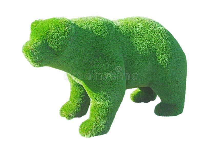 Postać niedźwiedź robić od dekoracyjnej trawy zdjęcia royalty free