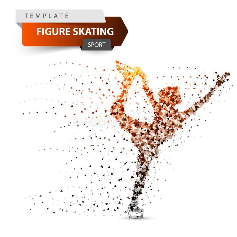Postać scating - słońce trójboka ilustracja ilustracji