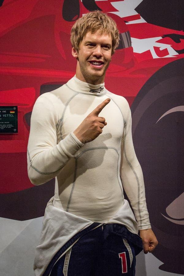 Postać Sebastiana Vettela na Madame Tussaud zdjęcia royalty free