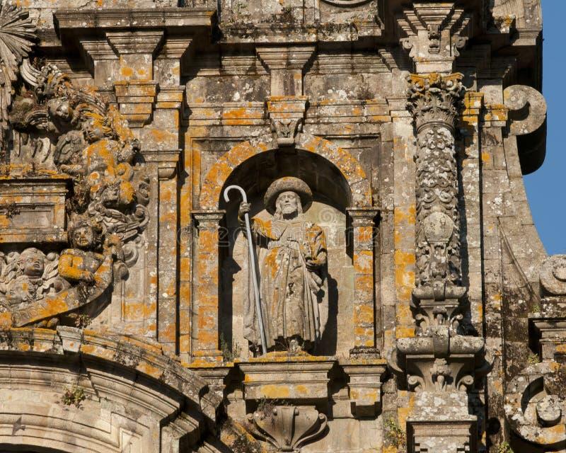 Postać St. James jako pielgrzym zdjęcie royalty free