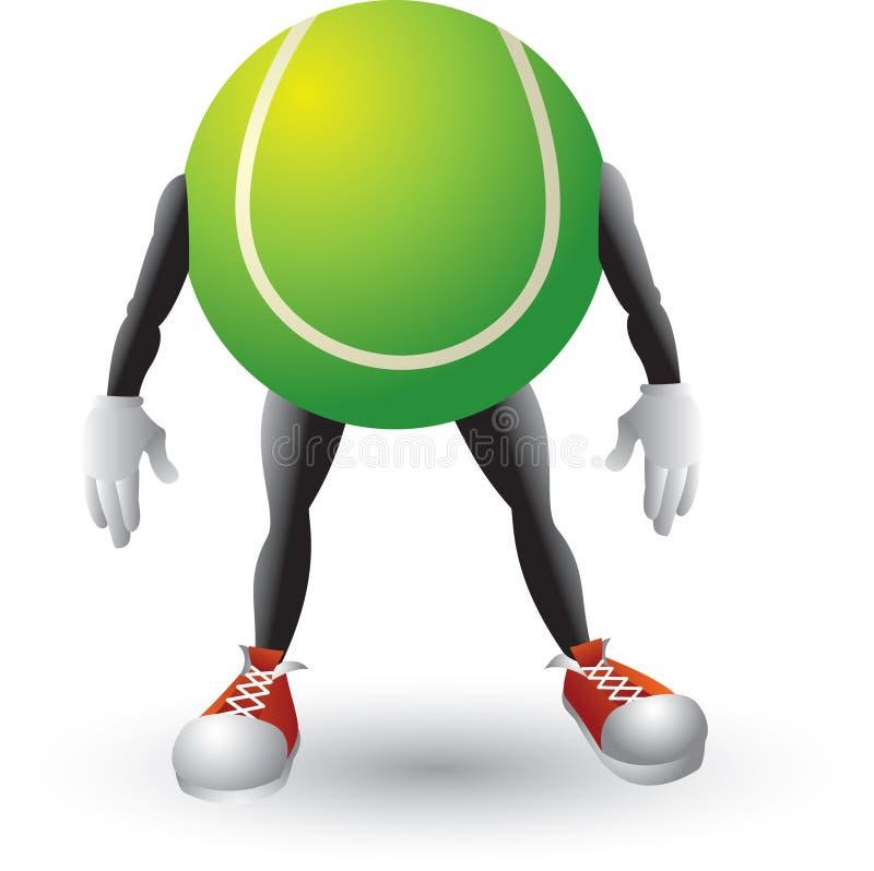 postać z kreskówki balowy tenis ilustracji