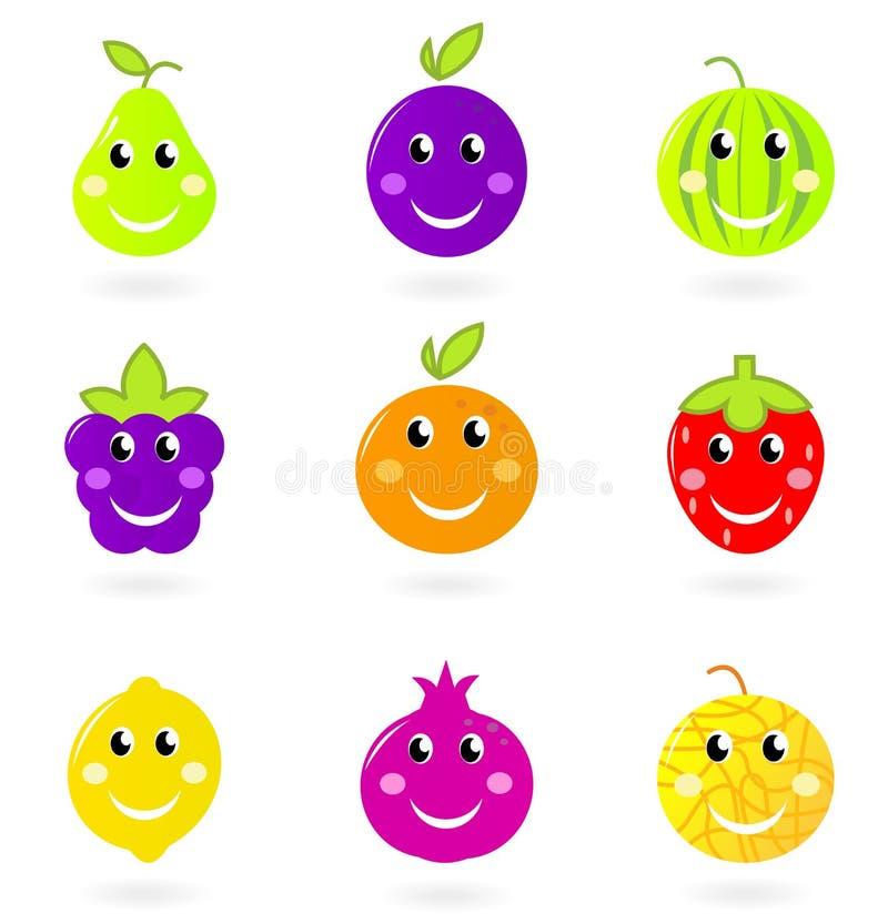 postać z kreskówki fruit ikony ja target2313_0_ ustalony ilustracji