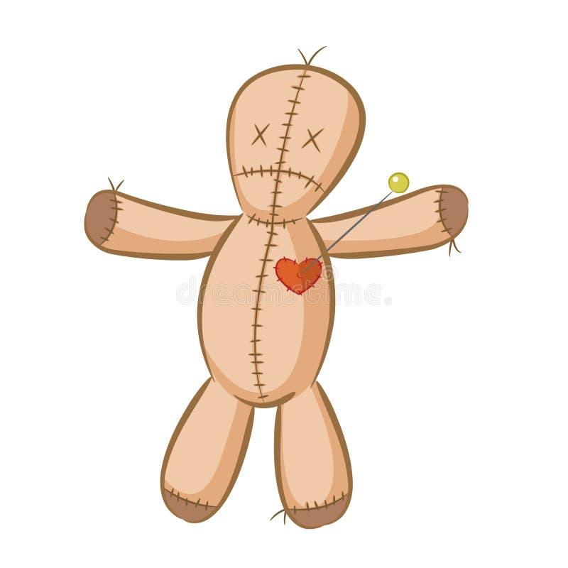 postać z kreskówki lali zabawki wudu royalty ilustracja