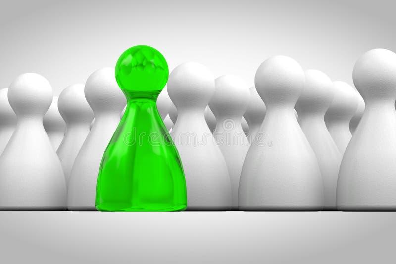 postać zielony lider royalty ilustracja