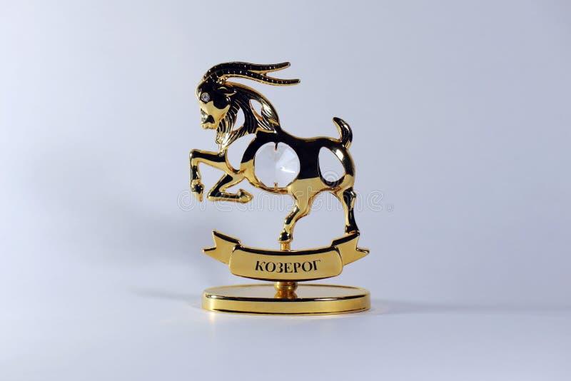 Postać zodiaka znaka Capricorn na białym tle obraz stock
