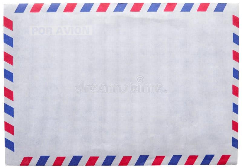 Posta aerea d'annata della busta fotografie stock libere da diritti