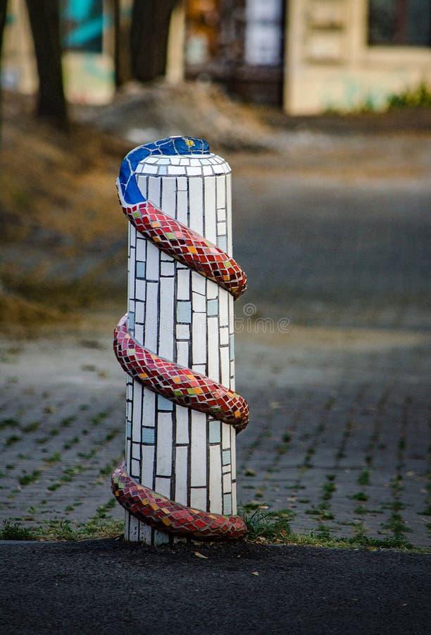 Posta artistica di frontiera della villa di Saloun immagine stock