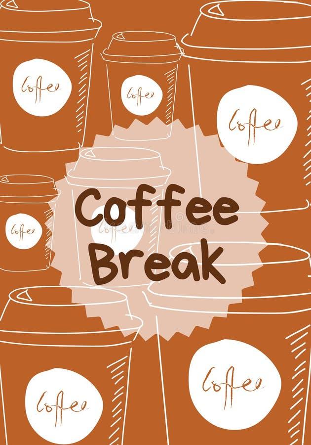Posta della pausa caffè illustrazione vettoriale