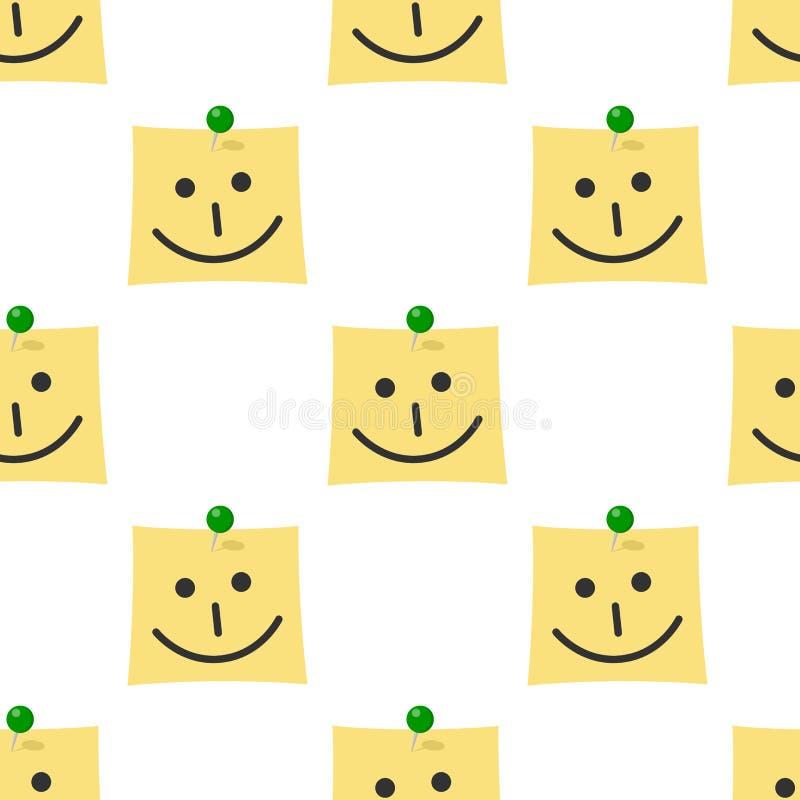 Posta det med den sömlösa modellen för leendesymbolen royaltyfri illustrationer