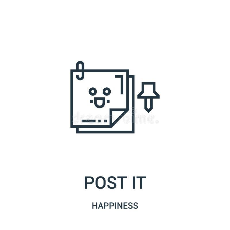 posta det symbolsvektorn från lyckasamling Den tunna linjen stolpe skisserar det symbolsvektorillustrationen Linjärt symbol för b royaltyfri illustrationer
