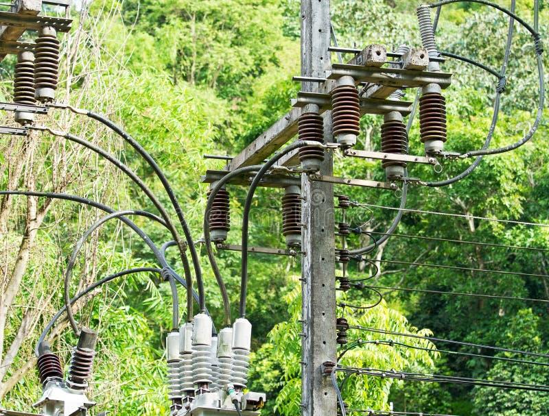 Posta di energia elettrica fotografie stock libere da diritti