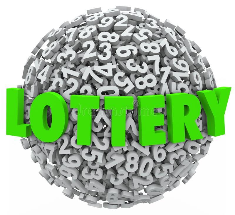 Posta di gioco della sfera della palla di numero di parola di lotteria royalty illustrazione gratis