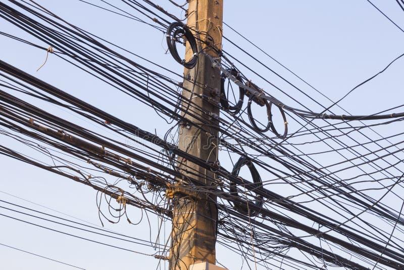 Posta elettrica sudicia fotografie stock
