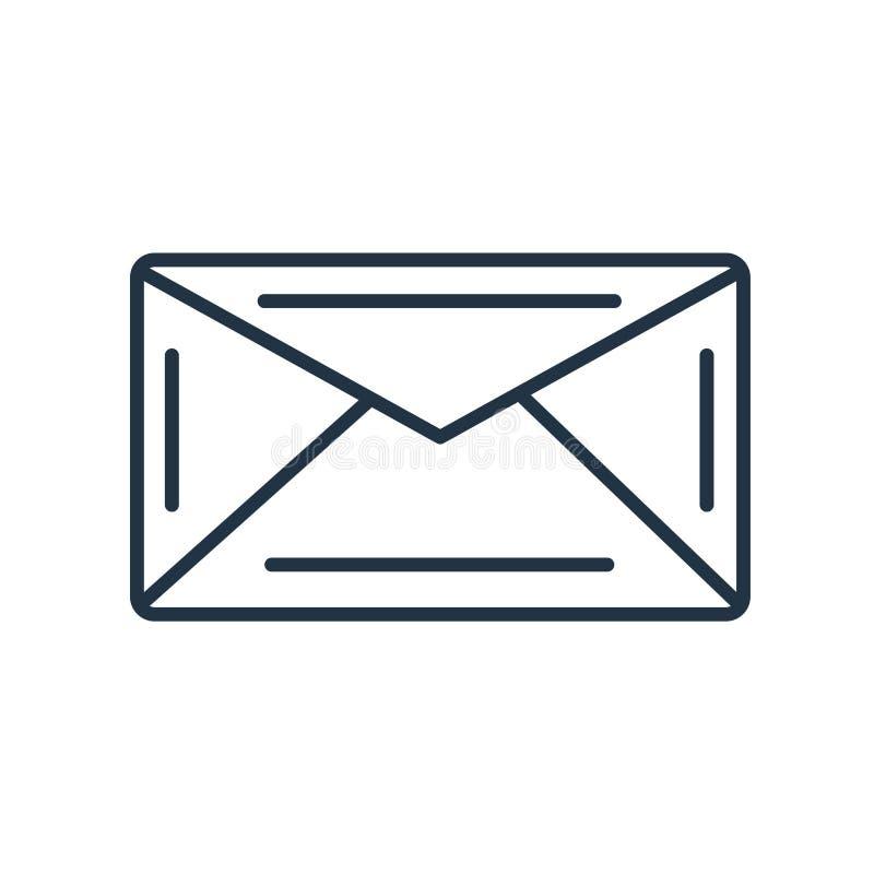 Posta symbolsvektorn som isoleras på vit bakgrund, posttecken royaltyfri illustrationer