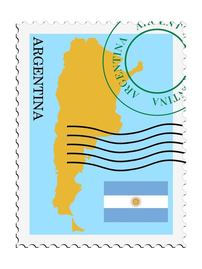 Posta to/from l'Argentina illustrazione di stock
