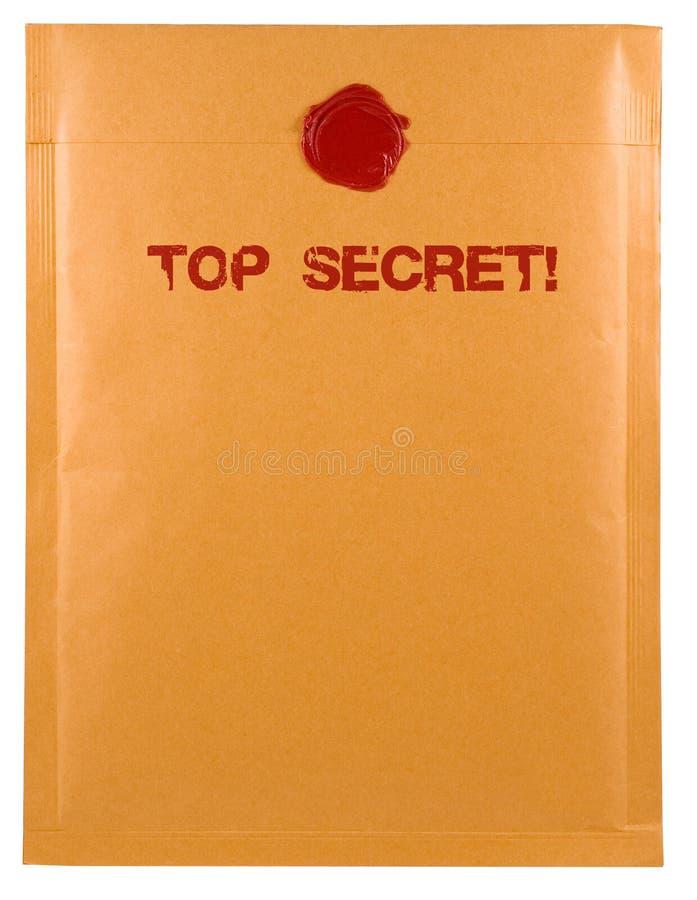 Posta top-secret fotografia stock