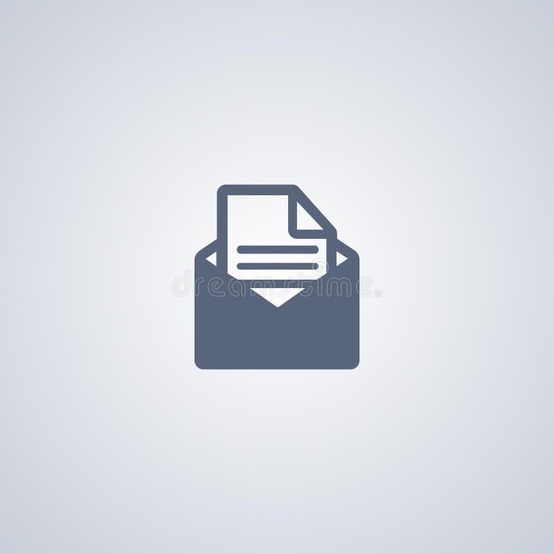 Posta vektorsymbolen, öppen kuvertvektorsymbol royaltyfri illustrationer