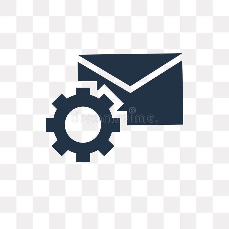 Posta vektorsymbolen som isoleras på genomskinlig bakgrund, posttrans. stock illustrationer