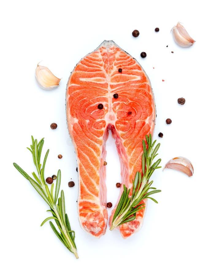 Posta vermelha salmon crua fresca fotografia de stock royalty free