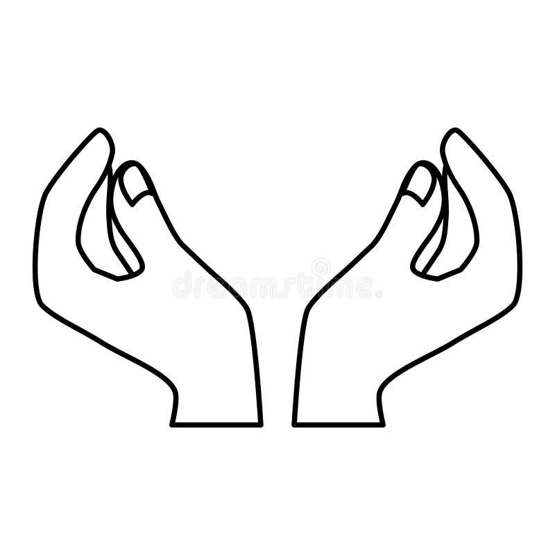 postaci homan wręcza ikona wizerunek ilustracja wektor