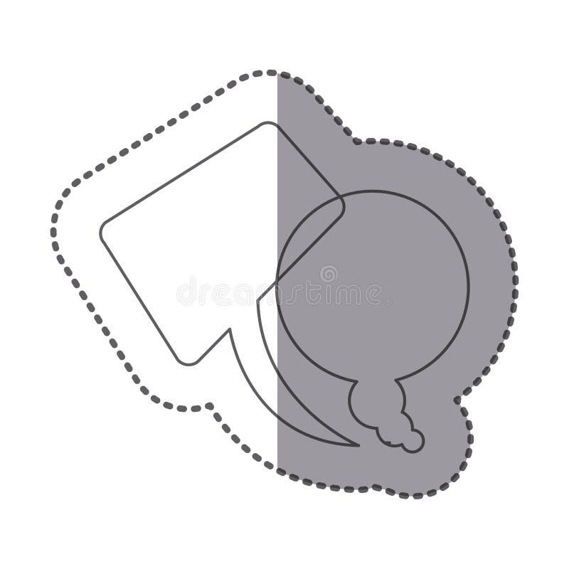 postaci squere i round gadka bąbli ikona ilustracji