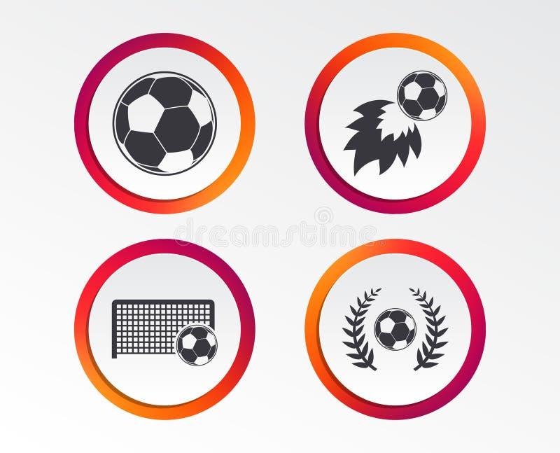 2 postaci ustawiać futbolowe szare ikony Piłki nożnej piłki sport royalty ilustracja