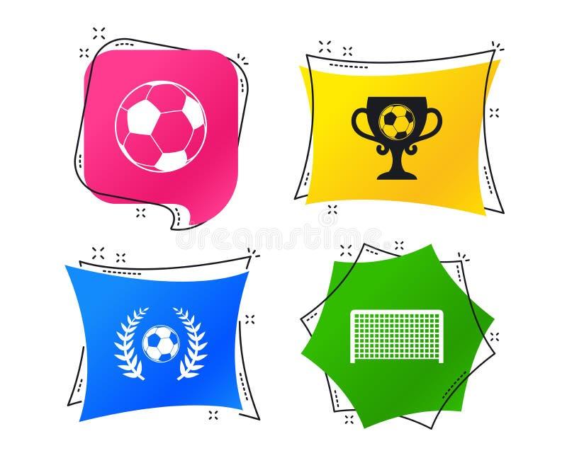 2 postaci ustawiać futbolowe szare ikony Piłki nożnej piłki sport wektor royalty ilustracja