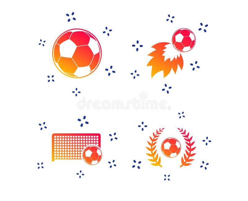 2 postaci ustawia? futbolowe szare ikony Pi?ki no?nej pi?ki sport wektor royalty ilustracja