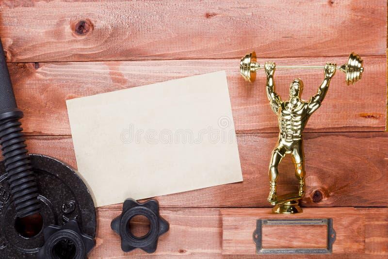 Postaci weightlifter dumbbells zdjęcia stock