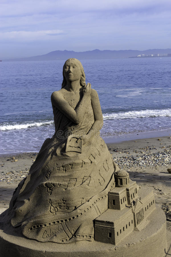 Postacie piasek na plaży obraz stock