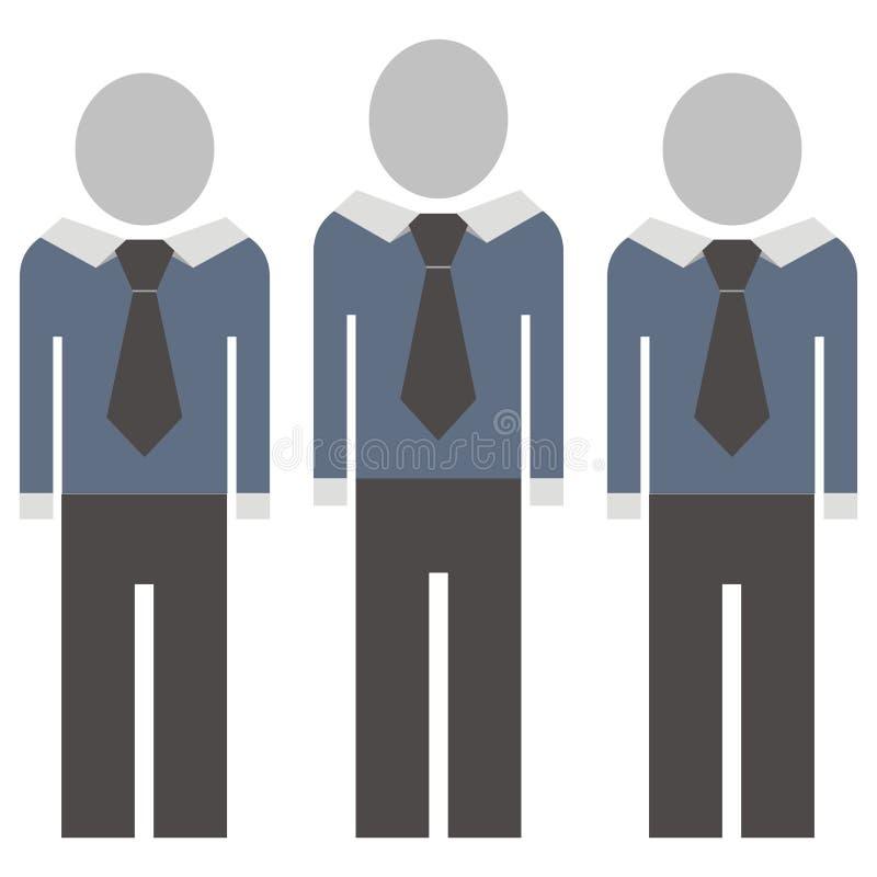 Postacie w kostiumu z krawatem przygotowywa ikonę ilustracji