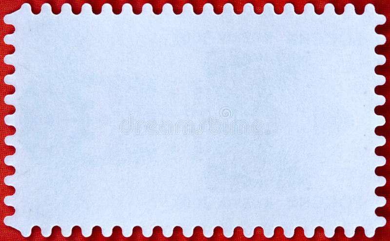 Postage. A blank stamp templates ready to be filled with your photos vector illustration