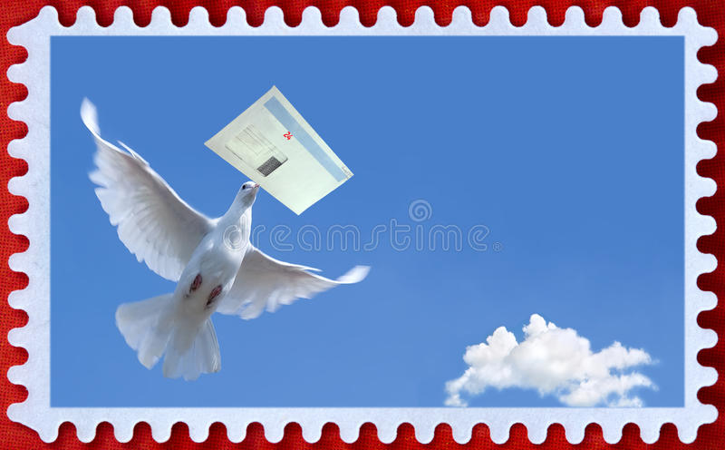 Postage. A blank stamp templates ready to be filled with your photos royalty free stock photos