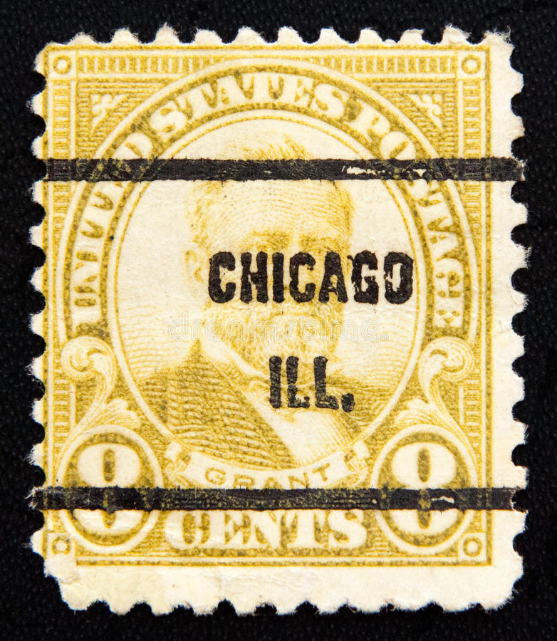 Postage circa of 1930. USA. UNITED STATES OF AMERICA - CIRCA 1930: A stamp printed in the United States of America 8 cents value shows Ulysses Simpson Grant royalty free stock photos
