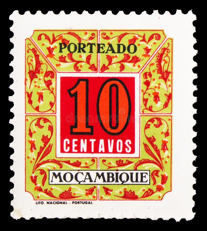 Free Postage Due 10 Centavos, Numbers Serie, Circa 1952 Royalty Free Stock Photography - 190372127