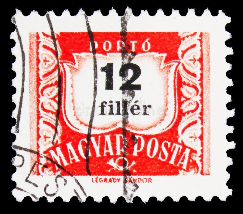 Postage due, série Number, cerca de 1965 imagem de stock royalty free