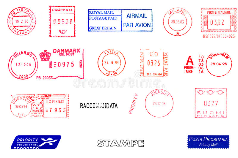 Download Postage meters stock photo. Image of mail, fragile, airmail - 7124620