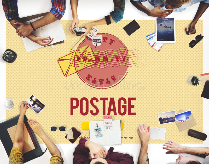 Postage Postal Stamp Delivery Postmark Concept royalty free stock photos