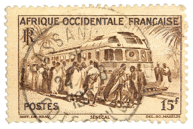 Postage Stamp. French east africa postage stamp royalty free stock images