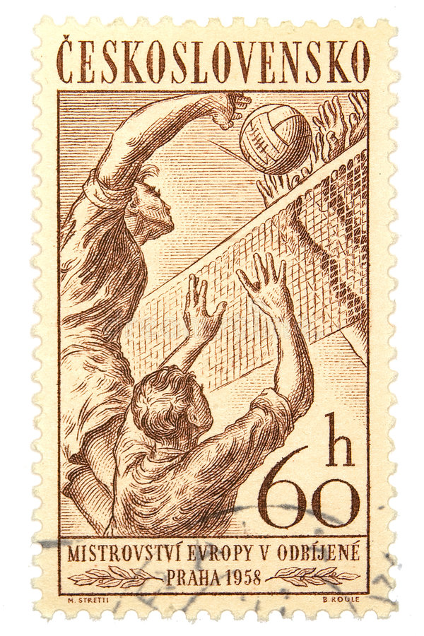 Postage Stamp. Czechoslovakia postage stamp on white background royalty free stock photos